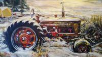 Dans Tractor - Acrylic Paintings - By Chris Palmen, Impressionism Painting Artist
