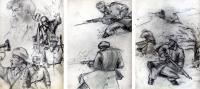 Comrades - Pencil Or Charcoal Other - By Frank Emery, Sketches Other Artist