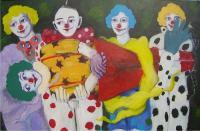 Private - 7 Clowns - Oil On Canvas