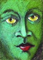 Private - Green Face Pastel - Pastel