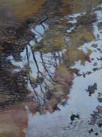 Tenno Lake Detail 4 - Acrilyc  Oil On Streched C Paintings - By Robert Keseru, Impressionism Painting Artist
