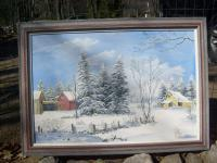 Winter Scenes - All Is Calm - Acrylic
