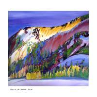 The March Light - Acrylic On Canvas Paintings - By Keshaw Kumar, Mountain Painting Artist