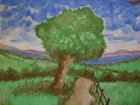 Watercolour - The Leaning Tree - Watercolour