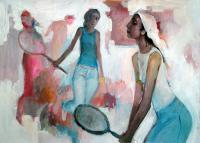 Thematic - Tennis Players - Acrylics