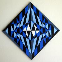 Abstract Geometric - Emigma - Acrylic On Canvas
