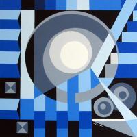 Abstract Geometric - Geometric Abstract 913 - Acrylic On Canvas