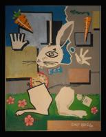 Paintings - The White Rabbit - Acrylic On Canvas