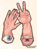 Idle Hands - Ink And Colored Pencil Drawings - By Bradford Beauchamp, Visual Caffeine Drawing Artist