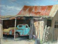 Old Farm Truck - Pastel Paintings - By Howard Scherer, Realistic Landscape Painting Artist