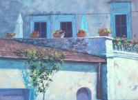 Under The Tuscan Sun - Oil Paintings - By Howard Scherer, Realistic Landscape Painting Artist