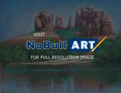 Howard Scherer Sedona Creek Buy Realistic Landscape Paintings Pastel Artwork For Sale Nobullart Art Gallery