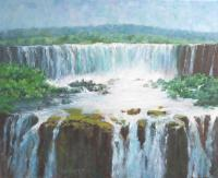 The Falls - Oil Paintings - By Howard Scherer, Realistic Landscape Painting Artist