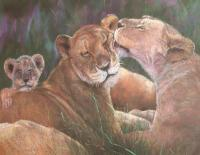 A Mothers Love - Pastel Paintings - By Howard Scherer, Realistic Painting Artist