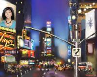 Evening At Times Square - Corel Painter Digital - By Mark Givens, Digital Painting Digital Artist