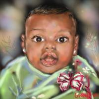 Daddys Girl - Corel Painter Digital - By Mark Givens, Digital Painting Digital Artist