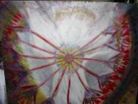 Channeled Art - Angellic Wheel Of Fireopen Heart Chakra - Acrylic