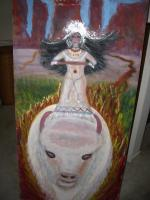 Channeled Art - The White Buffalo Calf Woman Rides 2012 - Acrylic