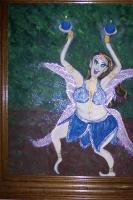 Fairies - Fat Belly Dancing Blueberry Fairy - Acrylic