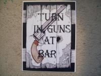 Naure Landscaperealistic - Turn In Guns At Bar - Mixed Media