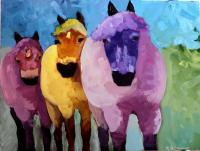 Animals - Wild Horses - Oil On Canvas