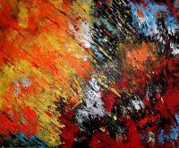 Abstract Expressionism - Two Worlds - Acrylics