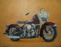 Outlaw - Oil On Canvas Paintings - By Tom Hampton, Abstract Painting Artist