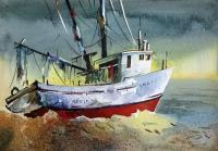 Boats By Sumit Datta - Boats 55 - Watercolor