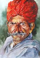 Expressionism - The Farmer - Watercolor