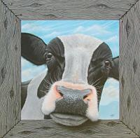 You Got Milk - Acrylics And Pigmented Ink Paintings - By Dallas Nyberg, Realism Painting Artist