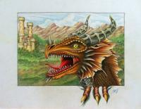 Recent Work - Dragon - Color Pencil