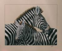 Recent Work - Zebras - Acrylics And Pigmented Ink