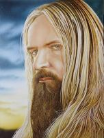 Portrait Of Zakk Wylde - Wicked Acrylics Paintings - By Dallas Nyberg, Realism Painting Artist