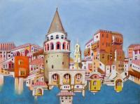 Architecture - Memory Of Istanbul - Oil On Paper