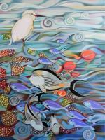 Animals - Memory Of The Coral Reef - Oil On Canvas