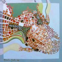 Maps - A Journey To Italy Accadia - Oil On Paper