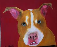 Buddy - Oil Paintings - By Linda Drobatz, Expressionism Painting Artist