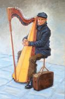 Oil - French Harp Player - Oil