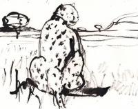 Wildlife - Cheetah 2 - Ink