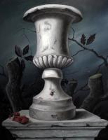 Vanitas - White Vase - Oil On Wood