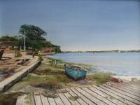 Philslandscapes - River Orwell  Pinmill - Oil