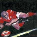 Feel The Passion Collection - First Try Rugby Prints - Oil