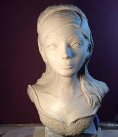 Sculptures - Daydreaming - Natural Clay