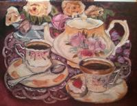 Still Life - Tea Party - Oil