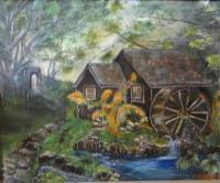 Landscape - Mom Water Wheel - Oil
