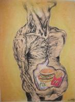 Drawings - Mcdouble Trouble - Charcoal And Pastel