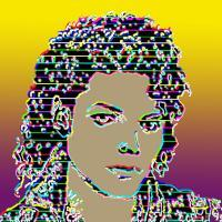 Decorative - Young Michael Jackson - Mixed Media