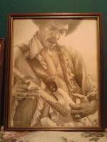 Edward Stafford - Jimmy Hendrix Portrait - Graphite