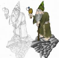 Concept-Wizard - Graphiteillustrator Drawings - By Tyler Criswell, Cartoon Drawing Artist