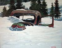 Deep Snow - Oil Paintings - By Matthew Thornburg, Painterly Realism Painting Artist